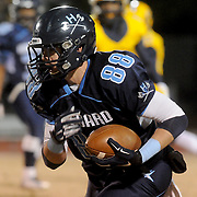 Hoggard's Hunter Louthan rushes against Cape Fear Friday November 21, 2014 at Hoggard High School in Wilmington, N.C. (Jason A. Frizzelle)
