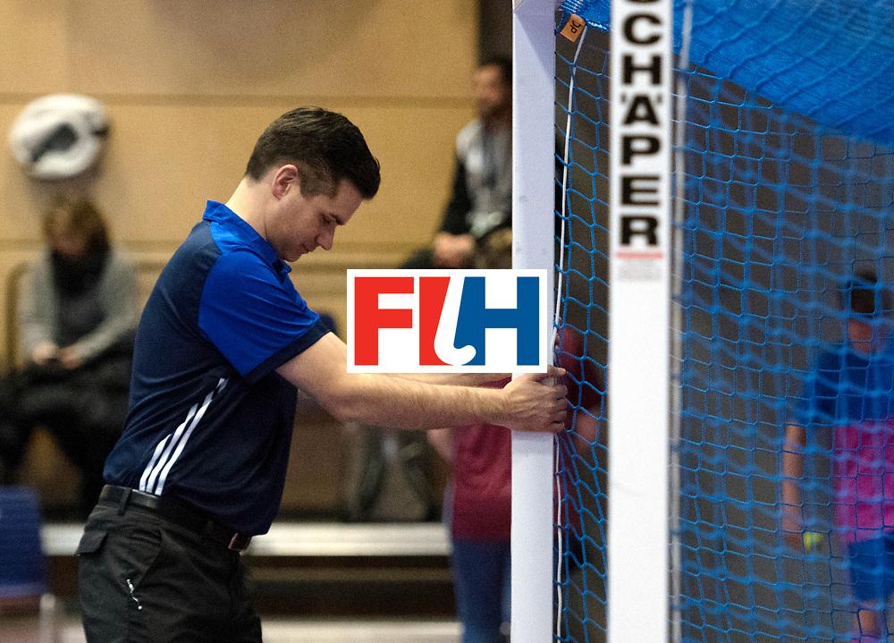 BERLIN - Indoor Hockey World Cup<br /> Switzerland - South Africa<br /> foto: Ben Goentgen<br /> WORLDSPORTPICS COPYRIGHT FRANK UIJLENBROEK