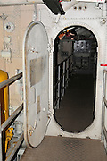 Israel, Haifa, The Clandestine Immigration and Navy Museum Interior of the Israeli Navy Missile boat INS Mivtach
