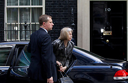 © Licensed to London News Pictures. 23/05/2013. London, UK. The Home Secretary, Theresa May, arrives at Number 10 Downing Street in London today (23/05/2013) ahead of a meeting of COBRA (Cabinet Office Briefing Room A) to discuss yesterday's alleged terrorist attack in Woolwich.. Photo credit: Matt Cetti-Roberts/LNP