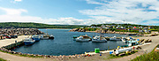 Lobster boats at the dock in Neils Harbour, Nova Scotia, Canada.