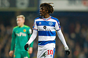 Queens Park Rangers midfielder Eberechi Eze (10) during The FA Cup 5th round match between Queens Park Rangers and Watford at the Loftus Road Stadium, London, England on 15 February 2019.
