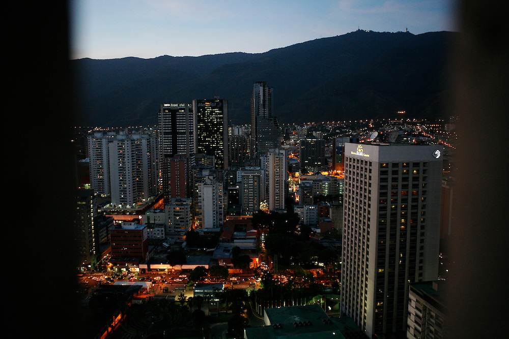 Caracas at night.