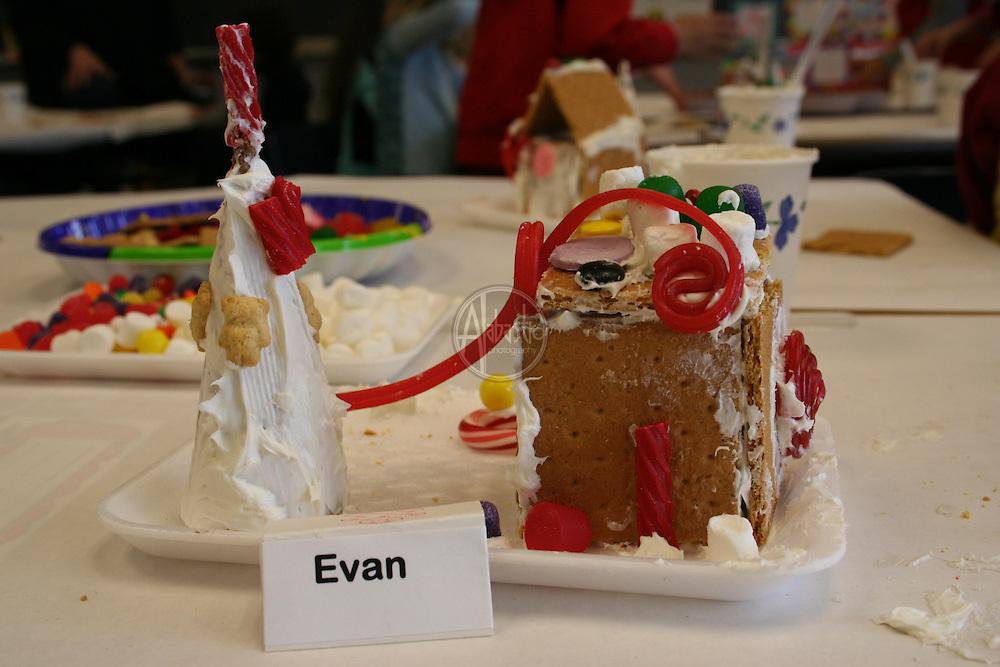 K Gingerbread House making Dec 2005