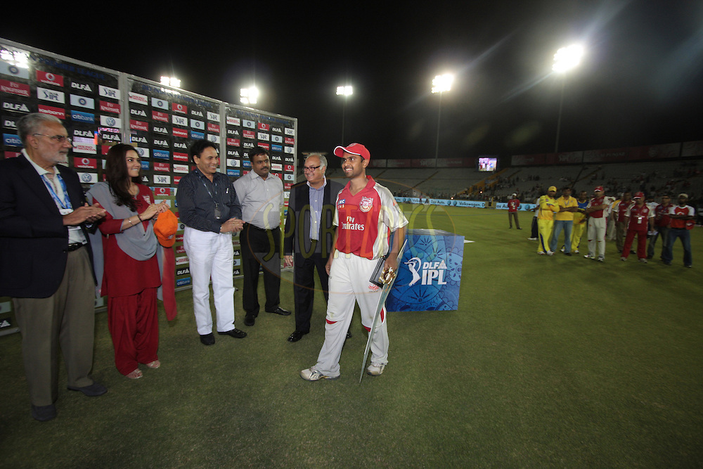 Presentation during match 9 of the Indian Premier League ( IPL ) Season 4 between the Kings XI Punjab and the Chennai Super Kings held at the PCA stadium in Mohali, Chandigarh, India on the 13th April 2011..Photo by Anil Dayal/BCCI/SPORTZPICS