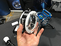 Prototype underwater housing for Samsung Gear 360 by 360RISE (DEMA 2016, Las Vegas)