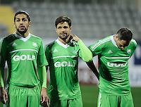 Friendly football match between Besiktas v Wolfsburg in Belek, Antalya,Turkey. 06.01.2012.Pictured: Ricardo Rodriguez (L) and Diego Ribas da Cunha (C) of Wolfsburg.