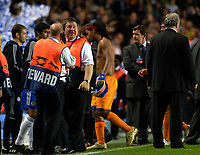 Photo: Daniel Hambury.<br />Chelsea v Barcelona. UEFA Champions League, Group A. 18/10/2006.<br />Barcelona's Ronaldinho walks off at the end.