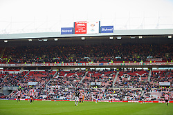 SUNDERLAND, ENGLAND - Sunday, September 29, 2013: Empty seats as Sunderland lose 3-1 to Liverpool during the Premiership match at the Stadium of Light. (Pic by David Rawcliffe/Propaganda)