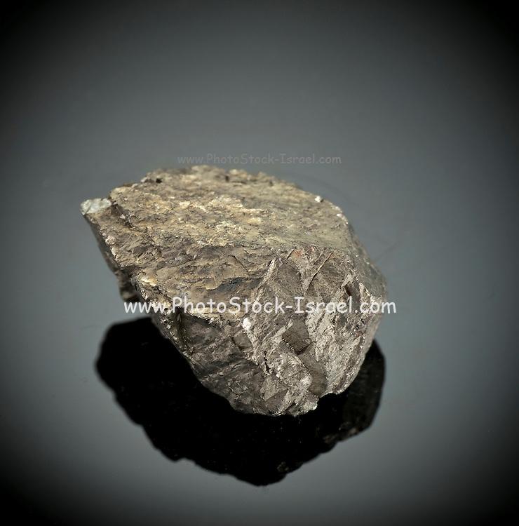 Cutout of a piryth gemstone on black background