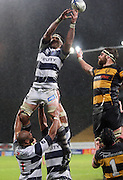 Auckland's Kurtis Haiu loses control of the wet ball at a lineout.<br /> Air New Zealand Cup rugby match - Taranaki v Auckland at Yarrows Stadium, New Plymouth, New Zealand. Friday 9 October 2009. Photo: Dave Lintott/PHOTOSPORT