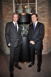 Left to right, Creative Director of Asprey BRUCE HOEKSEMA  and PADDY BYNG Managing Director of Asprey at the BAFTA Nominees party 2011 held at Asprey, 167 New Bond Street, London on 12th February 2011.