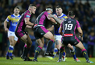 Brett Delaney of Leeds Rhinos on the attack against Hull Kingston Rovers during the Betfred Super League match at Elland Road, Leeds<br /> Picture by Stephen Gaunt/Focus Images Ltd +447904 833202<br /> 08/02/2018