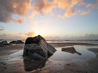 Torea Rocks on the West Coast, just south of Ngakawau. New Zealand, South Island.