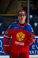 KELOWNA, BC - DECEMBER 18: Ivan Muranov #23 of Team Russia warms up against the Team Sweden at Prospera Place on December 18, 2018 in Kelowna, Canada. (Photo by Marissa Baecker/Getty Images)***Local Caption***