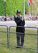 29.APRIL.2011. LONDON<br /> <br /> POLICE AT BUCKINGHAM PALACE FOR THE PRINCE WILLIAM AND CATHERINE MIDDLETON ROYAL WEDDING IN LONDON.<br /> <br /> BYLINE: EDBIMAGEARCHIVE.COM<br /> <br /> *THIS IMAGE IS STRICTLY FOR UK NEWSPAPERS AND MAGAZINES ONLY*<br /> *FOR WORLD WIDE SALES AND WEB USE PLEASE CONTACT EDBIMAGEARCHIVE - 0208 954 5968*