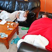 NLD/Huizen/20110111 - Diana en Linda beide ziek en last van de griep