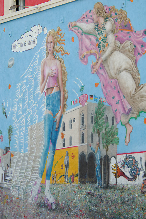 Mural, Venice Beach, Venice, Los Angeles, California, United States of America