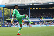 Sheffield United goalkeeper Jamal Blackman (27) during the EFL Sky Bet Championship match between Sheffield Wednesday and Sheffield Utd at Hillsborough, Sheffield, England on 24 September 2017. Photo by Phil Duncan.