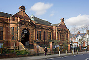 The exterior frontage of Carnegie Library in Herne Hill. Faced with the closure of its local library, Lambeth council plan to close the facility used by the community as part of austerity cuts, saying they will convert the building into a gym and privately-owned gentrified businesses - rather than a much-loved reading and learning resource. £12,600 was donated by the American philanthropist Andrew Carnegie to help build the library which opened in 1906. It is a fine example of Edwardian civic architecture, built with red Flettan bricks and terracotta, listed as Grade II in 1981.