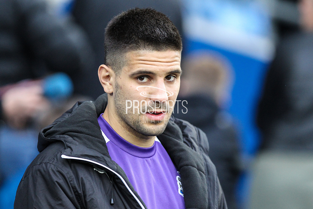 Aleksandar Mitrovic of Newcastle United before the EFL Sky Bet Championship match between Cardiff City and Newcastle United at the Cardiff City Stadium, Cardiff, Wales on 28 April 2017. Photo by Andrew Lewis.