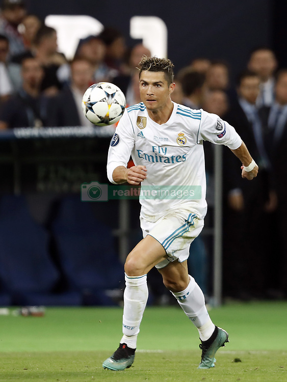 Cristiano Ronaldo of Real Madrid during the UEFA Champions League final between Real Madrid and Liverpool on May 26, 2018 at NSC Olimpiyskiy Stadium in Kyiv, Ukraine