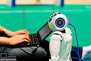 RoboCup 2009, Graz, Roboter Fussball Weltmeisterschaft, Robotic, humanoid, Nao-Roboter, Mensch-Roboter-Interaktion, Österreich, Steiermark