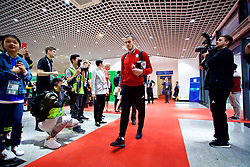 NANNING, CHINA - Monday, March 26, 2018: Wales' Gareth Bale arrives before the 2018 Gree China Cup International Football Championship Final between Wales and Uruguay at the Guangxi Sports Centre. (Pic by David Rawcliffe/Propaganda)