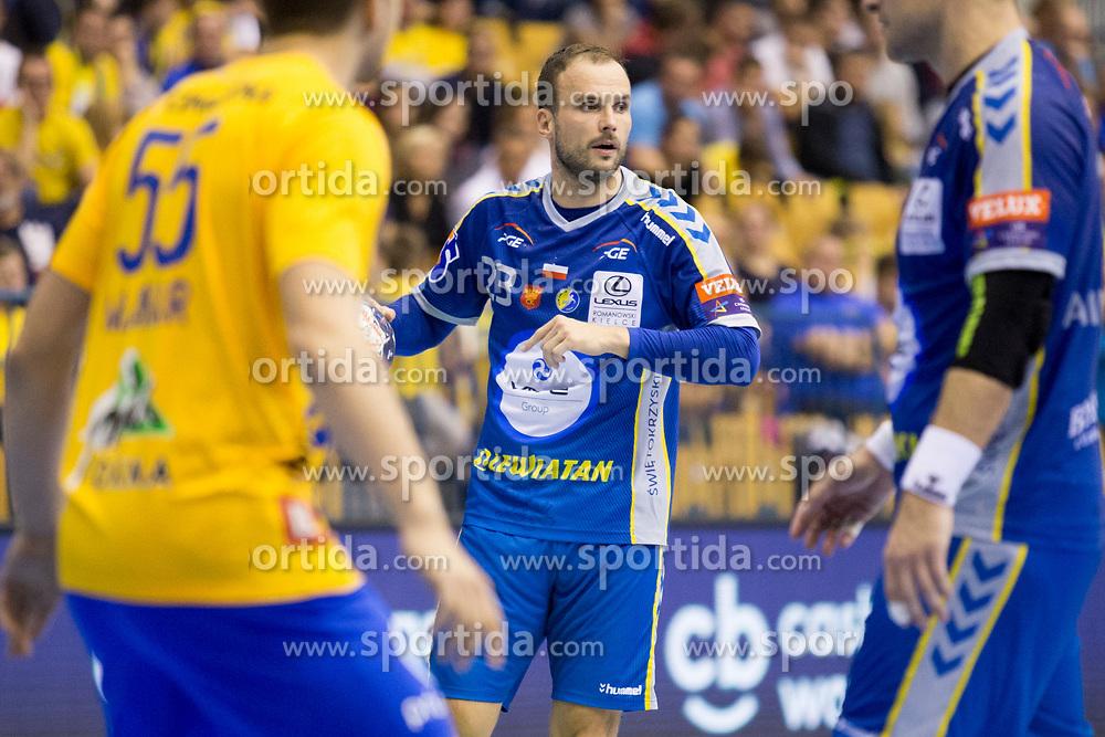 Uros Zorman of PGE Vive Kielce during handball match between RK Celje Pivovarna Lasko and PGE Vive Kielce in Group Phase A+B of VELUX EHF Champions League, on September 30, 2017 in Arena Zlatorog, Celje, Slovenia. Photo by Urban Urbanc / Sportida