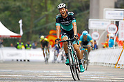 Arrival Felix Grossschartner (AUT - Bora - Hansgrohe) 2nd place during the Tour of Guangxi 2018, stage 4 cycling race, Nanning - Nongla Scenic Area (152,2 km) on October 19, 2018 in Nongla, China - Photo Luca Bettini / BettiniPhoto / ProSportsImages / DPPI