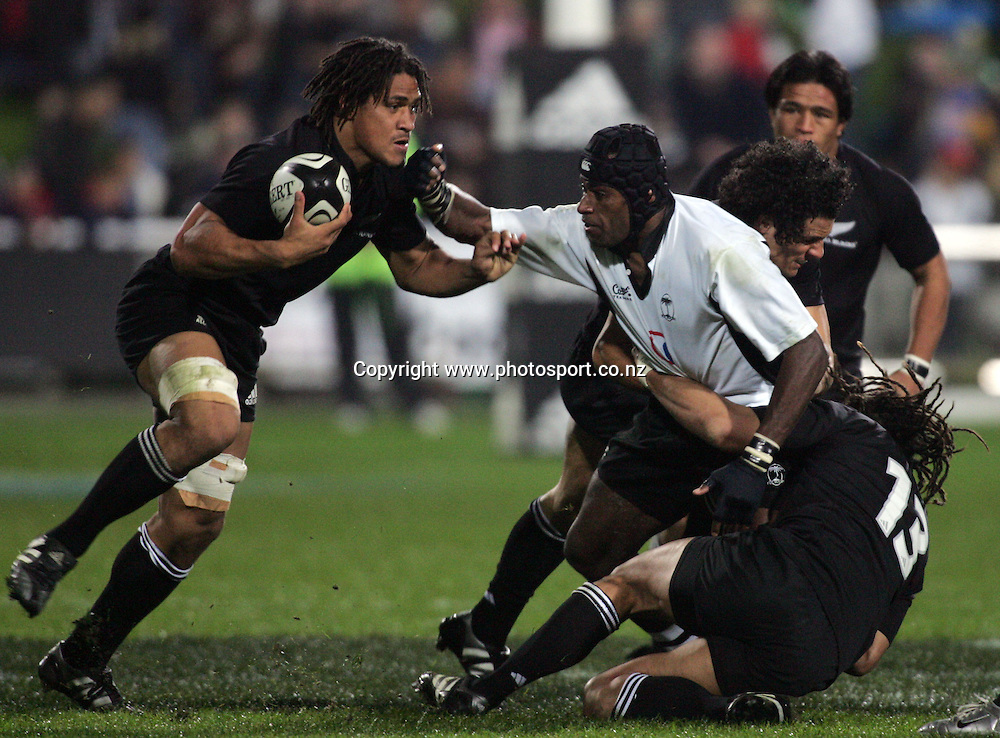 Rodney So'oialo during the All Blacks v Fiji test match played at Albany Stadium in Auckland on Friday 10 June, 2005. The All Blacks won 91-0. Photo: Hannah Johnston/PHOTOSPORT