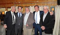 TEXEL - De Cocksdorp -  Pieter Landman, manager Roland-Jan Schippers , oprichter , Iwan Groothuis, Henri vd Steen. Golfbaan De Texelse. COPYRIGHT KOEN SUYK