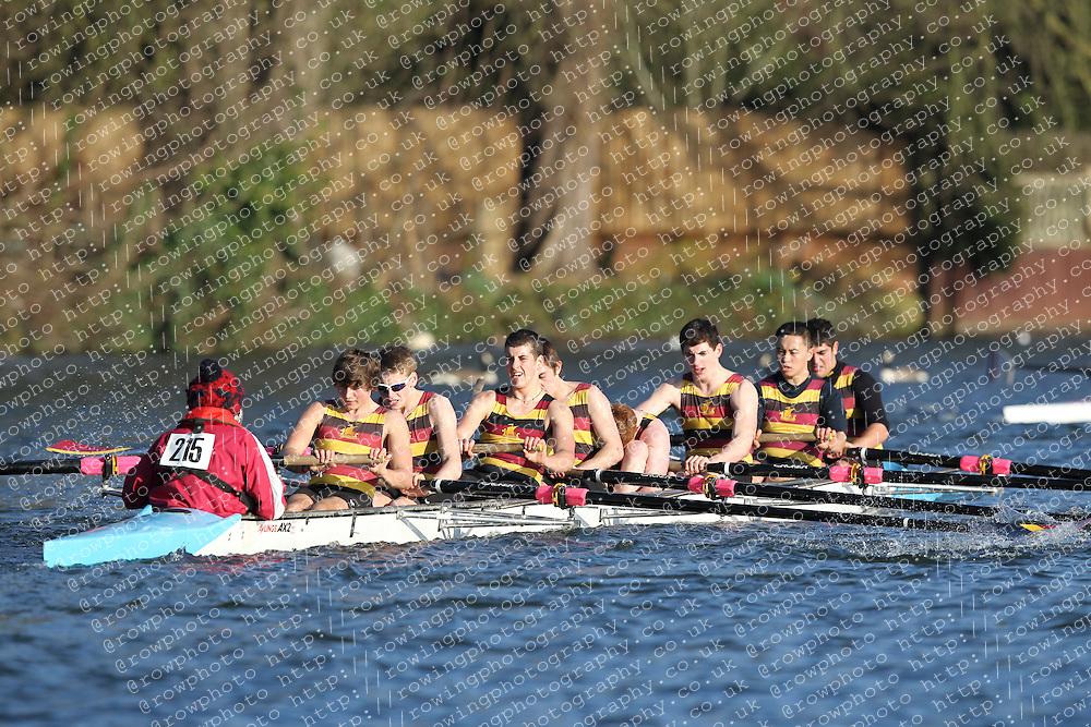 2012.02.25 Reading University Head 2012. The River Thames. Division 2. Shiplake College Boat Club Nov 8+