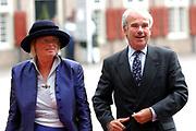 His highness prince Pieter-Christiaan of Oranje Nassau, of Vollenhoven and Ms drs. A.T. van Eijk get married Thursday 25 augusts in Palace the Loo in apeldoorn.<br /> <br /> <br /> Zijne Hoogheid Prins Pieter-Christiaan van Oranje-Nassau, van Vollenhoven en mevrouw drs. A.T. van Eijk treden donderdag 25 augustus in Paleis Het Loo te Apeldoorn in het huwelijk. <br /> <br /> On the photo/Op de foto:<br /> <br /> <br /> Drs. F.W. Weisglas, voorzitter van de Tweede Kamer der Staten-Generaal