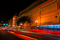 Balboa Theatre, downtown San Diego, California, USA. It is listed in the National Register of Historic Places. Built in 1924, the Balboa Theatre was a grand 1920s movie palace with a seating capacity of 1,600.