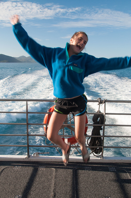 Eliza Coming Back from the Great Barrier Reef, Whitsunday islands,  Queensland, Australia