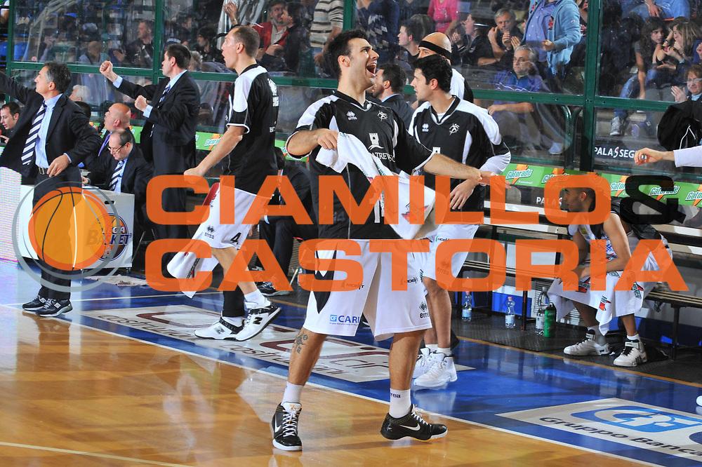 DESCRIZIONE : Ferrara Lega A 2009-10 Basket Carife Ferrara Benetton Treviso<br /> GIOCATORE : Brian Sacchetti<br /> SQUADRA : Carife Ferrara<br /> EVENTO : Campionato Lega A 2009-2010<br /> GARA : Carife Ferrara Benetton Treviso<br /> DATA : 09/01/2010<br /> CATEGORIA : Esultanza<br /> SPORT : Pallacanestro<br /> AUTORE : Agenzia Ciamillo-Castoria/M.Gregolin<br /> Galleria : Lega Basket A 2009-2010 <br /> Fotonotizia : Treviso Campionato Italiano Lega A 2009-2010 Carife Ferrara Benetton Treviso<br /> Predefinita :