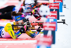 March 8, 2019 - –Stersund, Sweden - 190308  Linn Persson of Sweden during warm up ahead of the Women's 7.5 KM sprint during the IBU World Championships Biathlon on March 8, 2019 in Östersund..Photo: Petter Arvidson / BILDBYRÃ…N / kod PA / 92247 (Credit Image: © Petter Arvidson/Bildbyran via ZUMA Press)