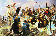 Battle of Borodino, 7 September 1812, Napoleon's last offensive battle in his Russian campaign and the bloodiest of all the engagements of the Napoleonic Wars.  France lost apprxomately 33,000 dead and wounded and Russia 44,000.