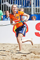 SCHEVENINGEN - Oud-international Minke Booij. Beachhockey in The Hague Beach Stadion. Foto Koen Suyk