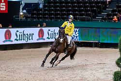 MANSUR Yuri (BRA), Carlson<br /> Leipzig - Partner Pferd 2019<br /> IDEE Kaffe Preis<br /> CSI5*<br /> 18. Januar 2019<br /> © www.sportfotos-lafrentz.de/Stefan Lafrentz