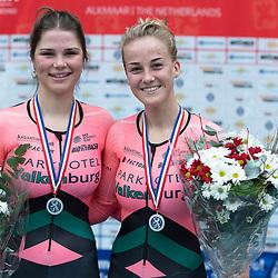 29-12-2019: Wielrennen: NK Baan: Alkmaar<br />Amber van der Hulst en Marit Raaijmakers pakken zilver op de koppelkoers