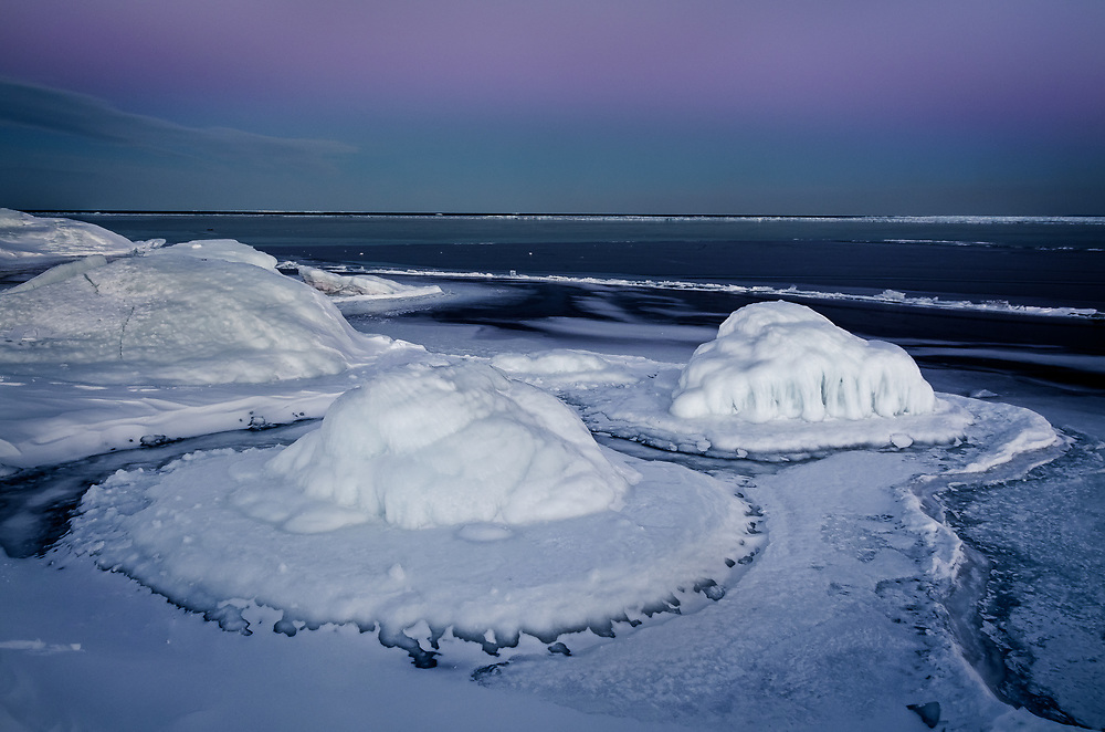 Ice formations on the shores of Lake Superior.