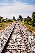 Railroad crossing between Kampot and Sihanoukville