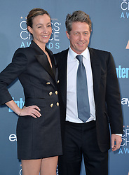 File photo - Hugh Grant, Anna Elisabet Eberstein attend the 22nd Annual Critics' Choice Awards at Barker Hangar on December 11, 2016 in Santa Monica, Los Angeles, CA, USA. He's been referred to as one of the UK's most eligible bachelors but Hollywood star Hugh Grant is finally tying the knot. The Four Weddings and a Funeral and Paddington star is set to wed the mother of three of his children, Swedish TV producer, Anna Eberstein. Photo by Lionel Hahn/ABACAPRESS.COM