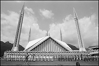 Pakistan, Islamabad, Mosquée Shah Faiçal, Enterrement du président Zia Ul Haq. // Pakistan, Islamabad, Shah Faiçal mosque, President Zia Ul Haq funeral