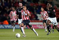 Photo: Alan Crowhurst.<br />Southampton v Milton Keynes Dons. The FA Cup.<br />07/01/2006. <br />Theo Walcott attcks for Saints'.