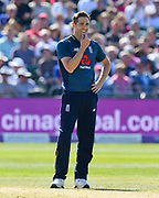 Chris Woakes of England during the third Royal London One Day International match between England and Pakistan at the Bristol County Ground, Bristol, United Kingdom on 14 May 2019.