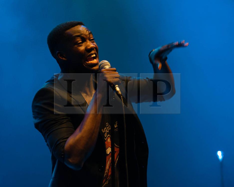 © Licensed to London News Pictures. 08/04/2013. London, UK.   Jacob Banks performing live at Hammersmith Apollo, supporting headliner Emeli Sandé.   Photo credit : Richard Isaac/LNP