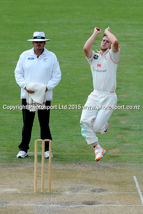 Canterbury player Matt Henry during their Plunket Shield match Central Stags v Canterbury at Saxton Oval, Nelson, New Zealand. Friday 20 March 2015. Copyright Photo: Chris Symes / www.photosport.co.nz